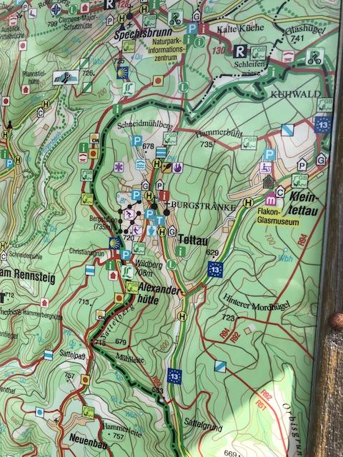 Wanderkarte-Rennsteig
