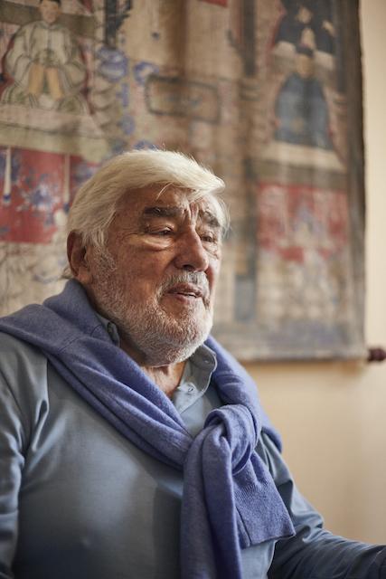 Interview-mit-dem-Schauspieler-Mario-Adorf-in-dessen-muenchner-wohnung
